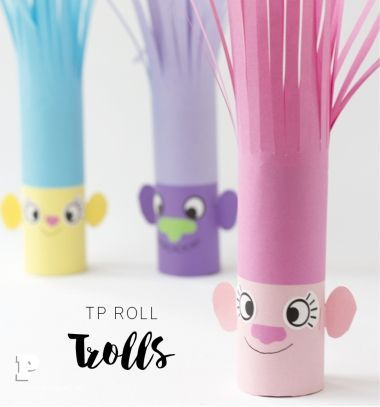 DIY Toilet paper Trolls - fun paper craft for kids | Mindy