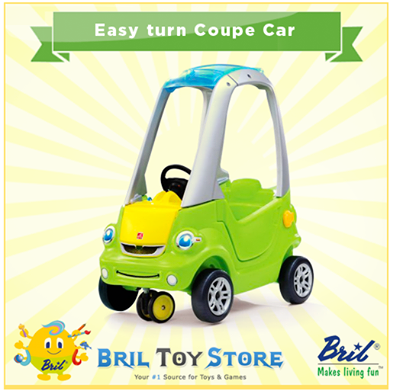 **Easy turn Coupe Car** Go cruising' in this fresh new
