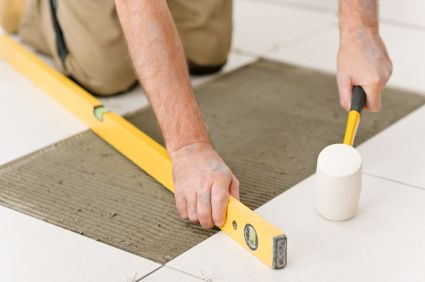 Diy How To Install Ceramic Porcelain Or Glass Tile Flooring Loose Tile How To Lay Tile Glass Tile