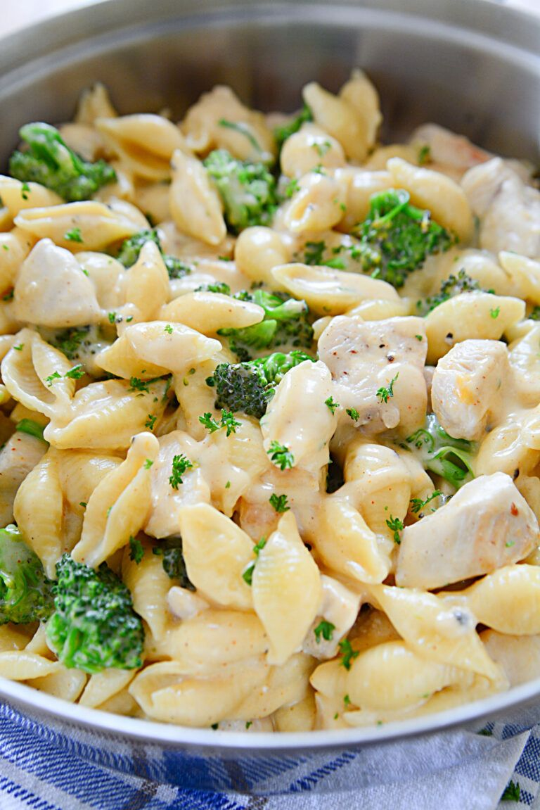 Cheesy Chicken & Broccoli Shells