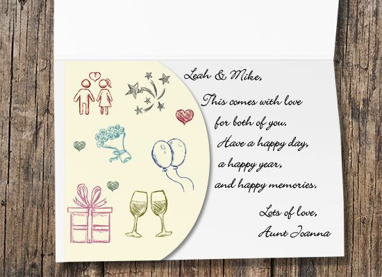 bridal shower card for couple