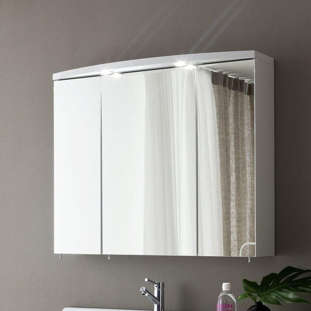 3 Door Mirrored Bathroom Cabinet With Lights | Illuminated ...
