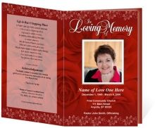 Funeral Obituary Program Template Design Displays The Deep Passion