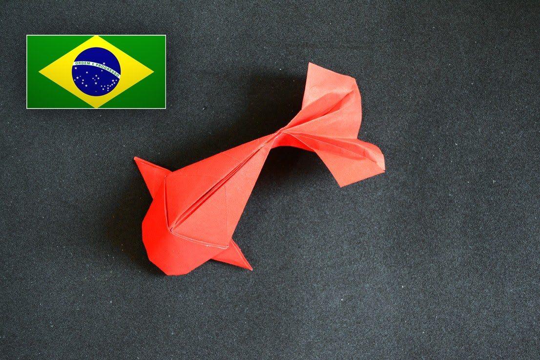Origami peixe riccardo foschi instru es em for Ang pao origami