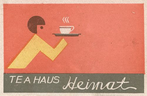 japanese matchbox label (typography, composition)