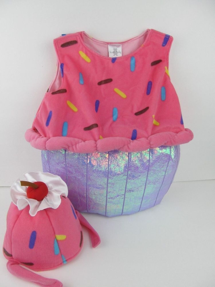 e00cb3a35 Cupcake Costume With Hat 24 Months Koala KidsPink Purple Sprinkles DressUp  #KoalaKids #CompleteOutfit