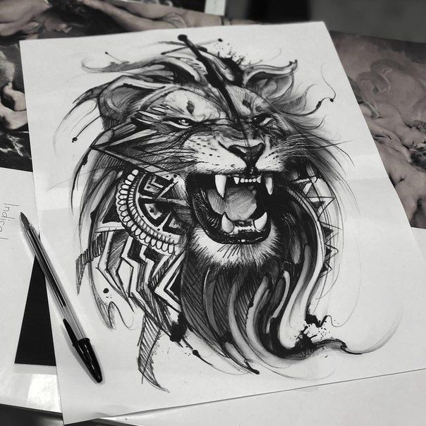 lion tattoo art pinterest tatuajes tatuaje de leona y imagenes para tatuajes. Black Bedroom Furniture Sets. Home Design Ideas