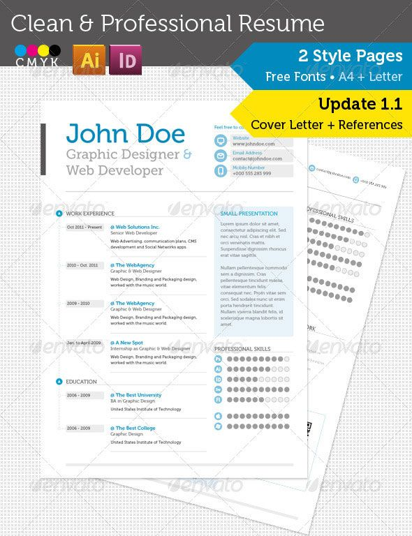 20 Best Resume Templates Professional resume - web design resume template