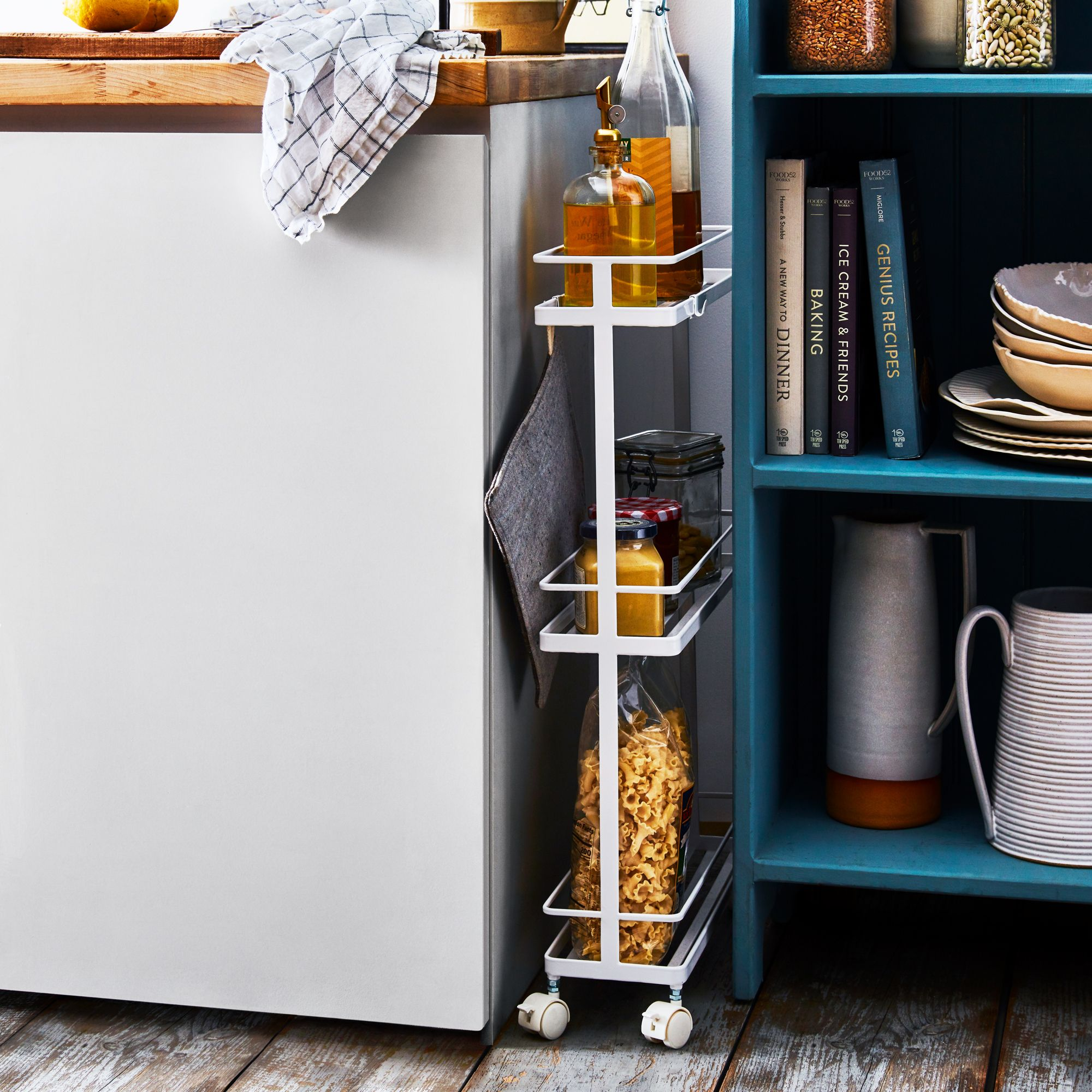 Dining Room Storage Ideas To Keep Your Scheme Clutter Free: Fit-Anywhere Slim Storage Cart On Food52