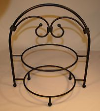 Southern Living at Home Timeless Two Tiered Black Wrought Iron Plate Stand I have one of  sc 1 st  Pinterest & Southern Living at Home Timeless Two Tiered Black Wrought Iron Plate ...