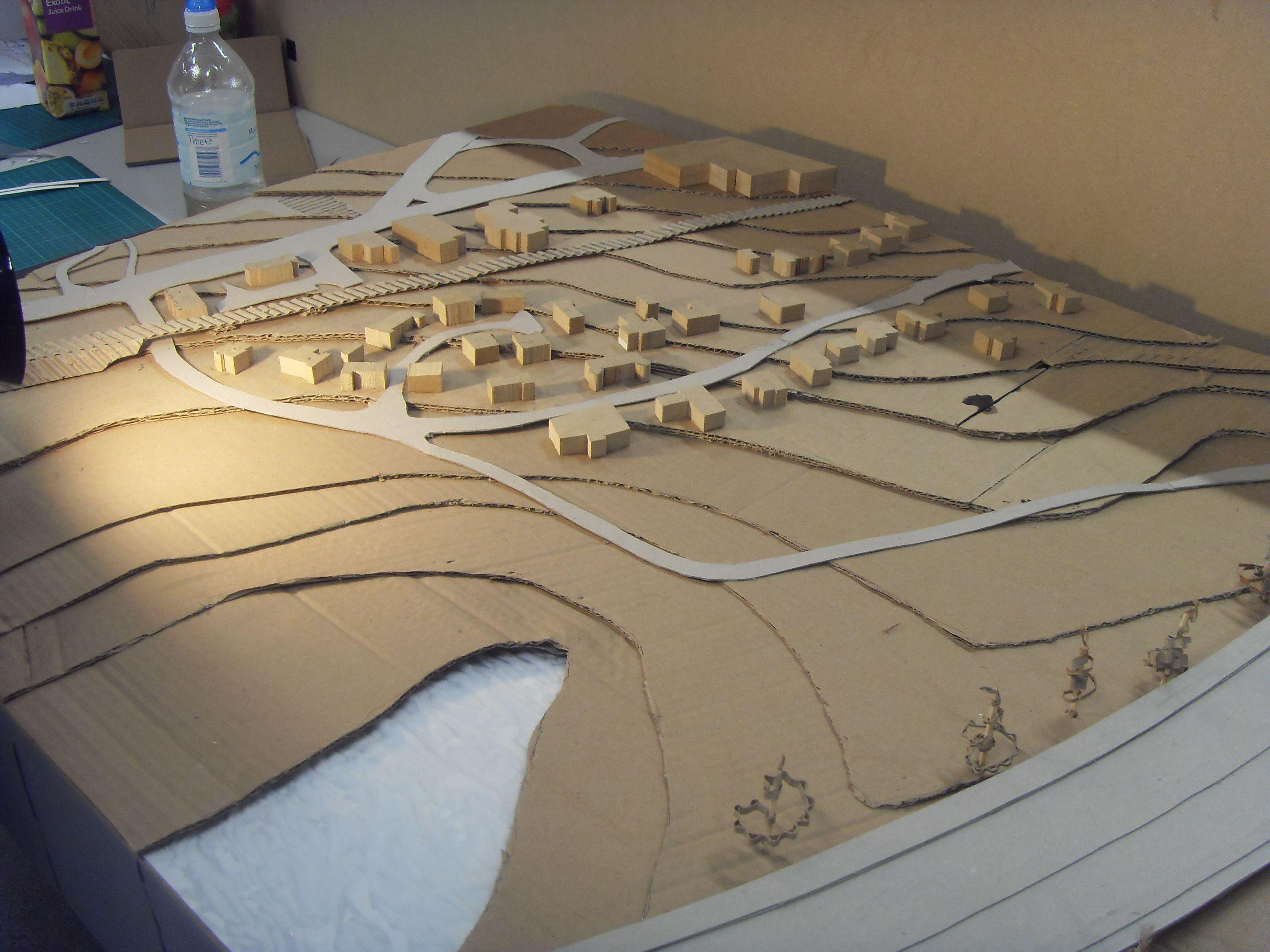 architectural site model materials scale 1 500 landscape model