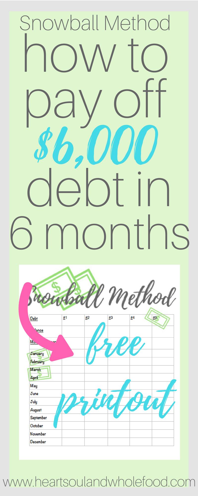 payoff debt snowball method dave ramsey debt sheet printable