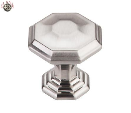 Top Knobs - TK340 - Chalet Knob 1 1/4in. - Brushed Satin Nickel - Chareau Collection