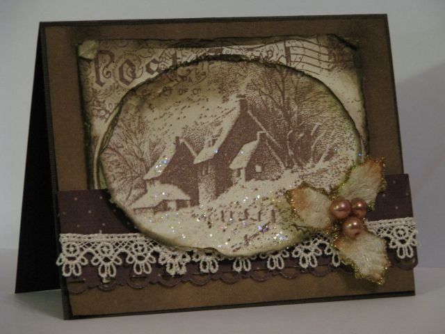 SC413: Snow Postcard vky by Vickie Y - Cards and Paper Crafts at Splitcoaststampers