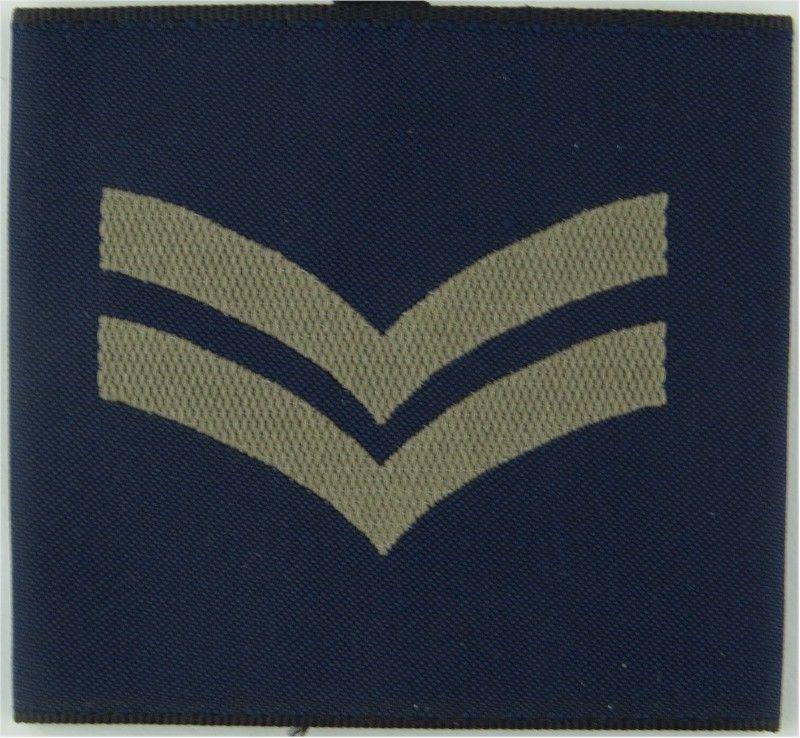 Corporal RAF SlipOn Rank Badge Woven Air Force Rank
