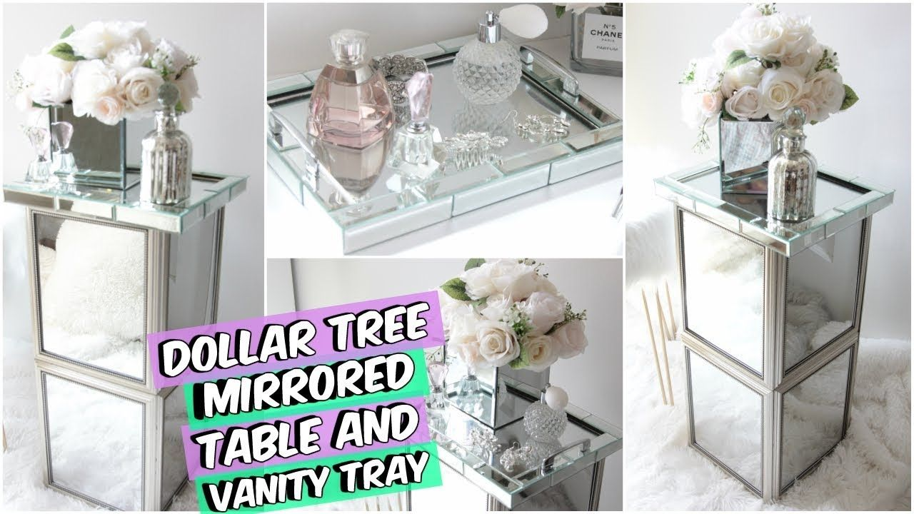 DOLLAR TREE MIRRORED END TABLE DIY ROOM DECOR YouTube