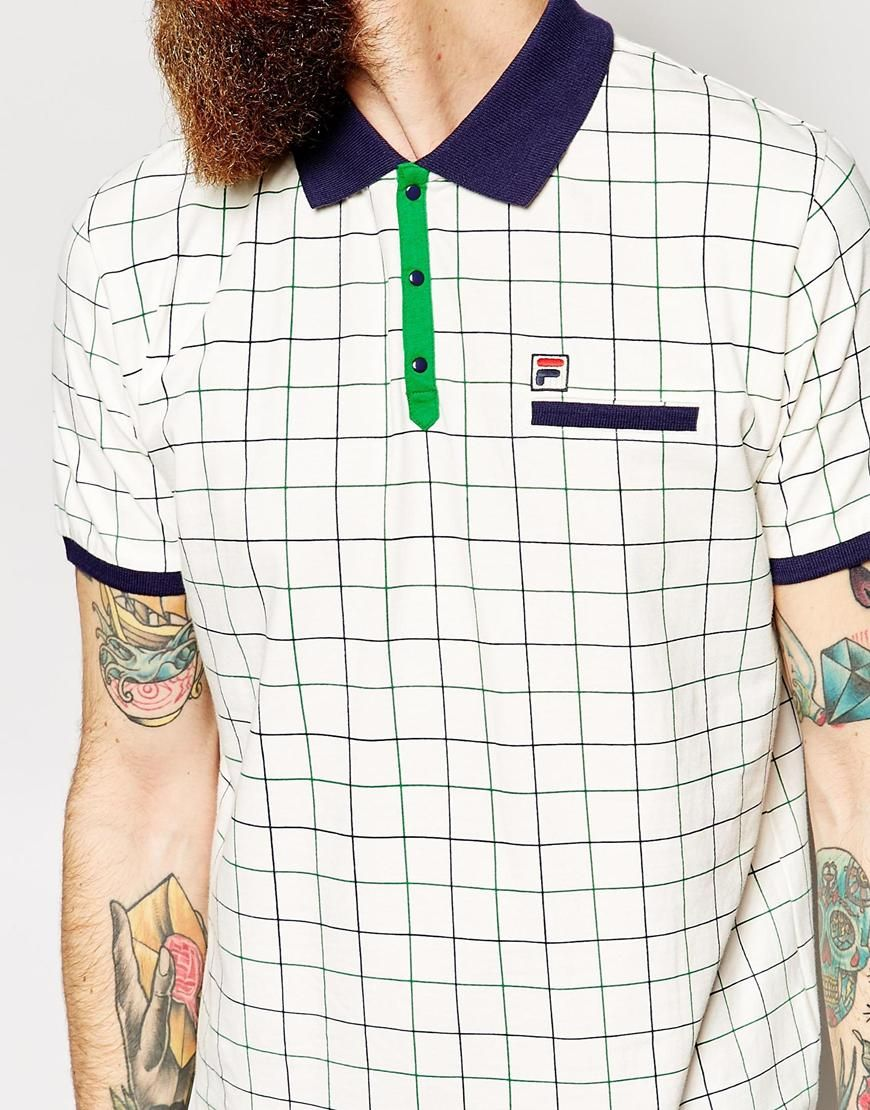 Image 3 of Fila Vintage Polo Shirt With Check
