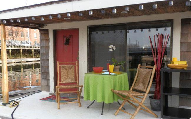 Starting at $175/night - Ahhhh Summer Shack! SleepAfloat's houseboat retreat in the fun and funky Fox Point neighborhood in Providence, RI!