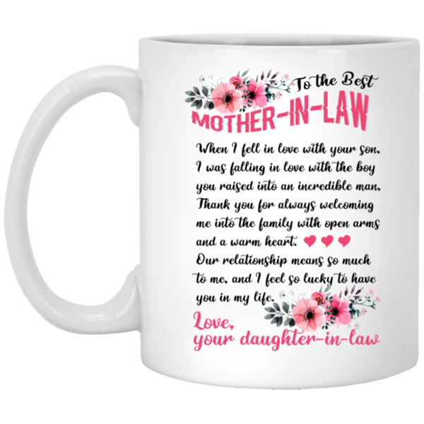 Thank You for Being My Son-in-Law Coffee Mug Amazing Gift for Your Son-in-law