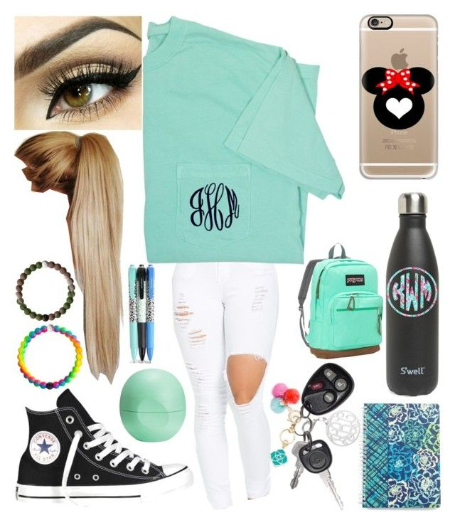 """""""set 2: first day of school"""" by xo-arissa-xo ❤ liked on Polyvore featuring Kate Spade, Casetify, Converse, Kendra Scott, S'well, Lilly Pulitzer, Eos, JanSport, Vera Bradley and arissacreations"""