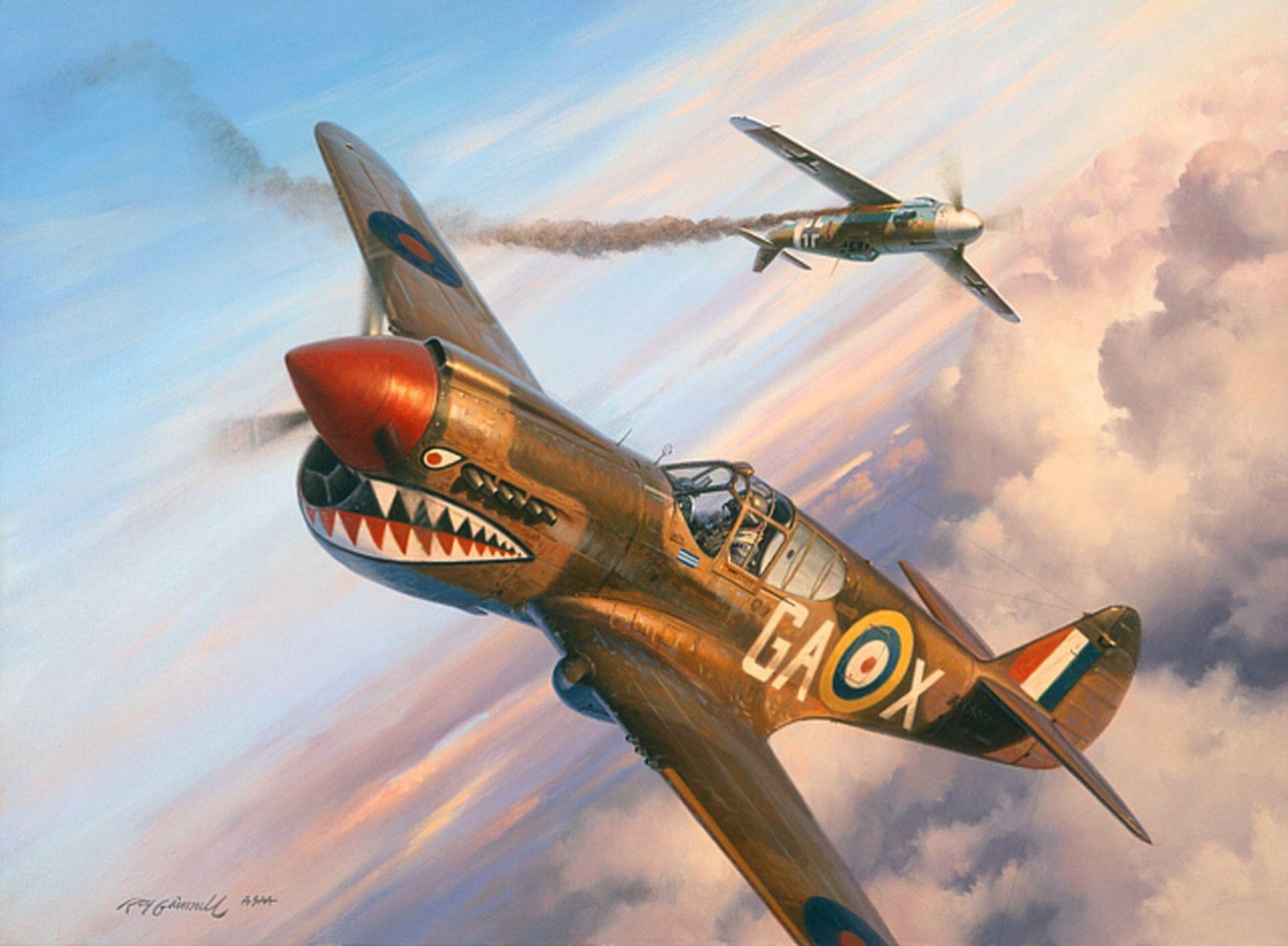Обои американский, p-40, warhawk, kittyhawk, tomahawk, curtiss, Самолёт. Авиация foto 16