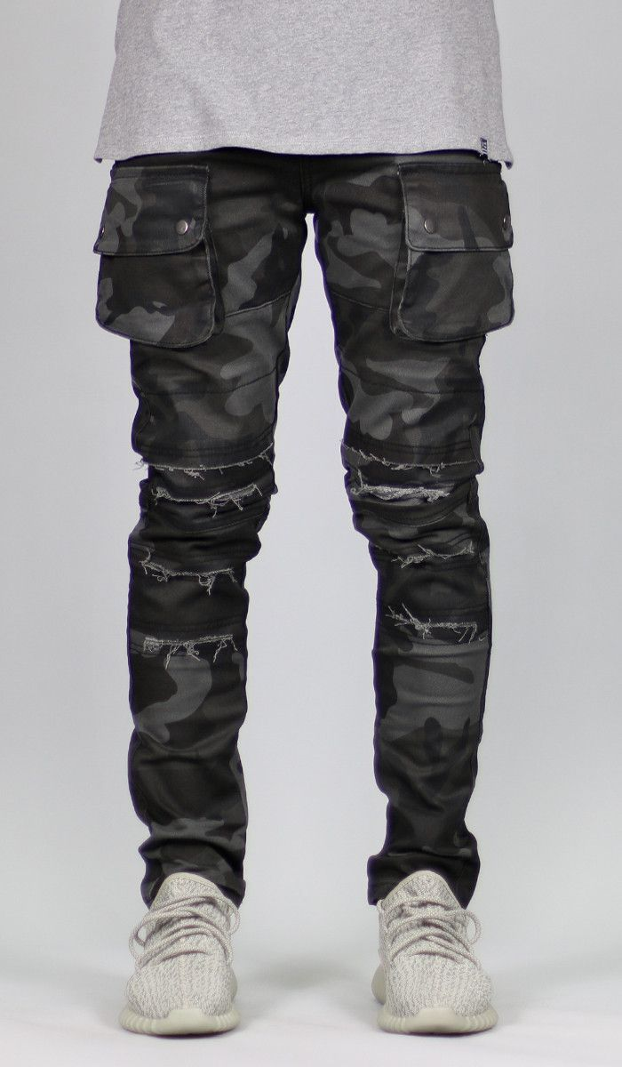 Black Camo Cargo Pant  b913f4b4b4d