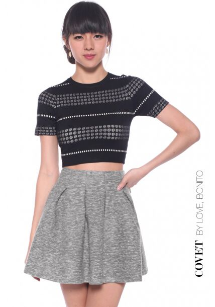 ff9ab3d5685ffe Love Bonito Covet Seraphia Tweed Skirt in Grey | My Current Wardrobe ...