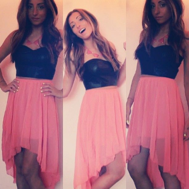 love high low skirts like this  credit: lolufullyloaded.com