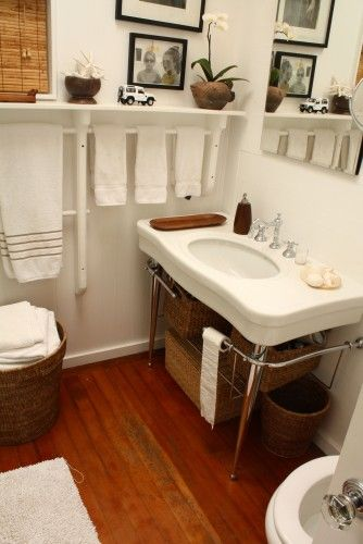 love the sink and shelving and towel bar!!!!!!!!!!!! home decor