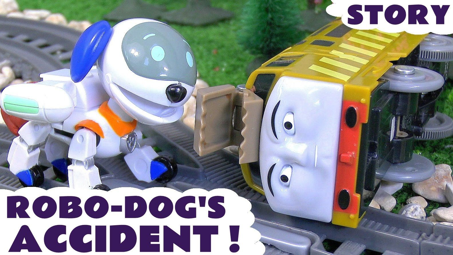 Paw Patrol Robot Robo Dog Accident Thomas And Friends Play Doh Toy