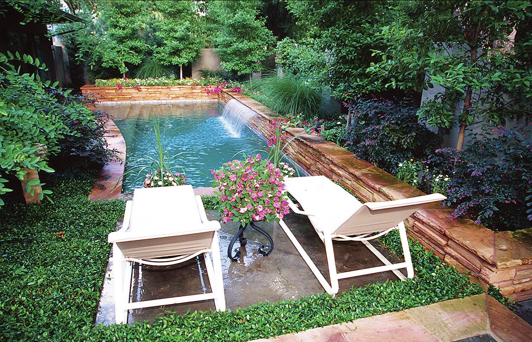 small backyard with pools florida small pool called a plunge pool or spool surrounded by lush. Black Bedroom Furniture Sets. Home Design Ideas