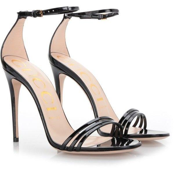 GUCCI Black Patent Leather Sandal ($649