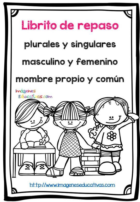 Mi Librito De Repaso Masculino Y Femenino Singular Plural Etc