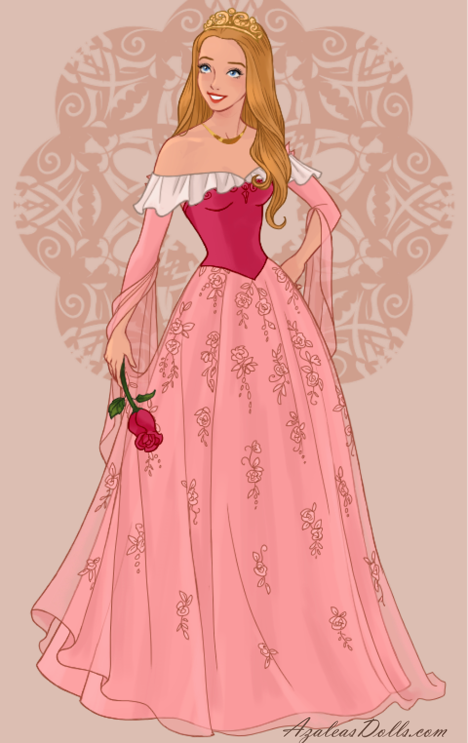 Princess Aurora The Sleeping Beauty In Pink In Wedding Dress Design Dress Up Game Disney Princess Dresses Disney Princess Fashion Sleeping Beauty Dress