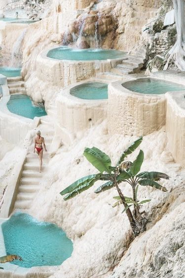 ... hidden gems: turquoise hot springs | mexico | natural pools