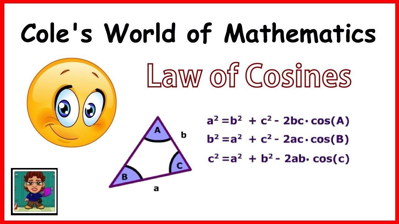 Law Of Cosines Pre Calculus Trigonometry Law Of Cosines Calculus Trigonometry