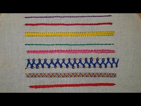 Hand Embroidery For Beginners Part 2 10 Basic Stitches