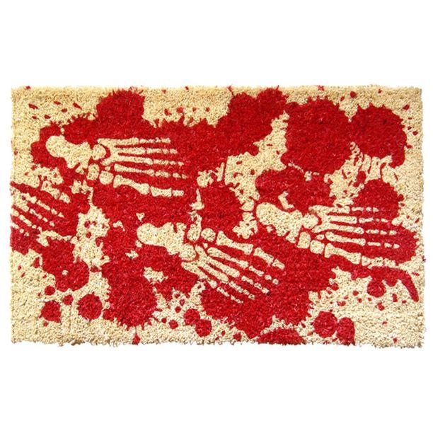 bloody feet hand woven doormat entryways rugs textiles door mats great - Halloween Rugs