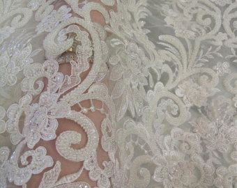 Wedding lace guipure lace fabric elegent embroiery by Qualitylace1