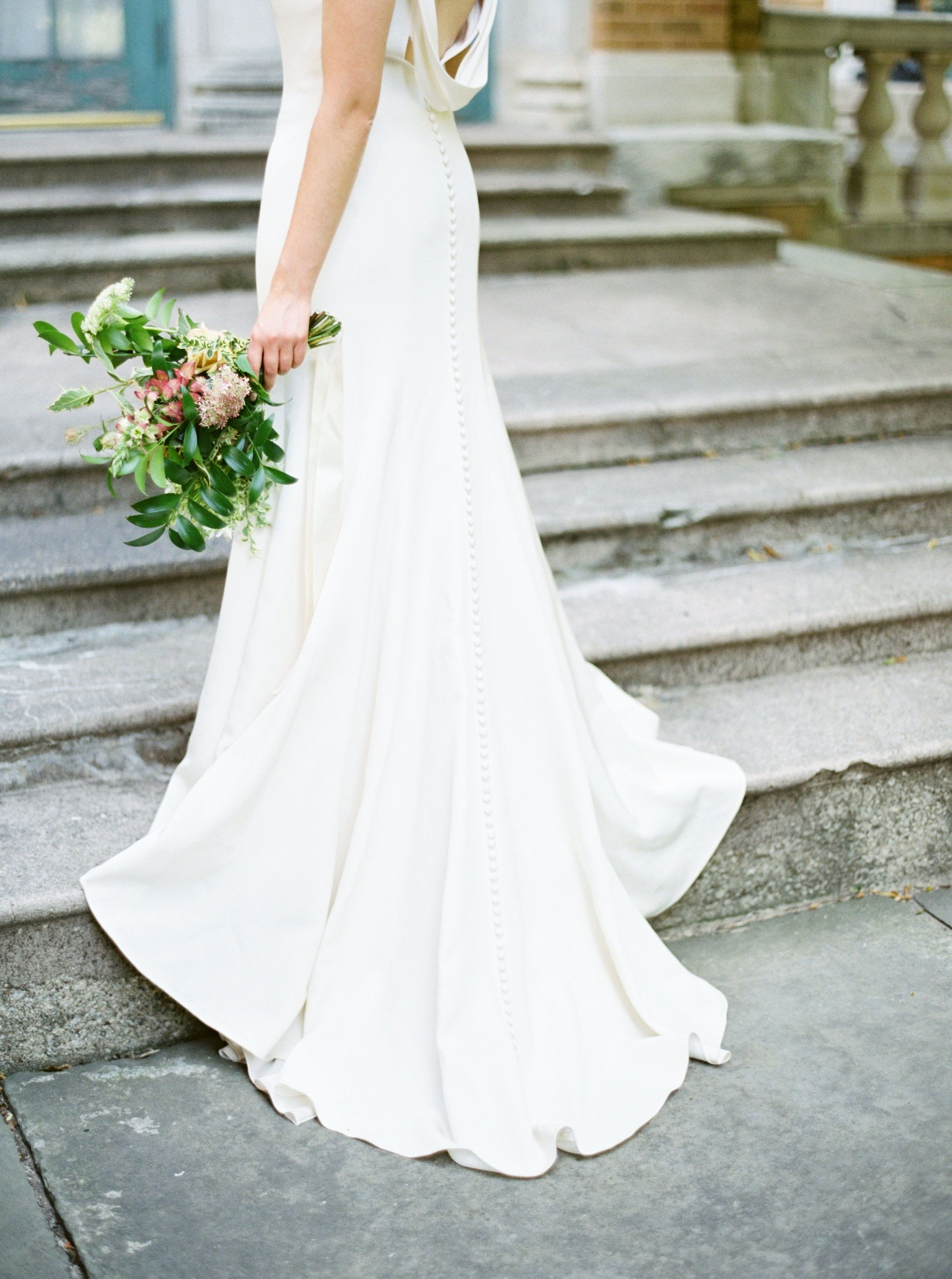 Vintage cowl neck wedding dress  So sleek Jenny Yoo Collection the Kennedy bridal gown features an