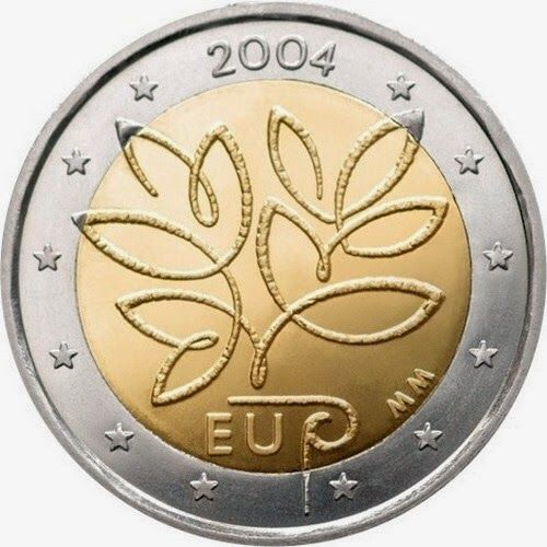 2 Euro Finland 2004 Fifth Enlargement Of The European Union In 2004 Commemorative 2 Euro Coins From Finland Euro Coins Coins Numismatic Coins