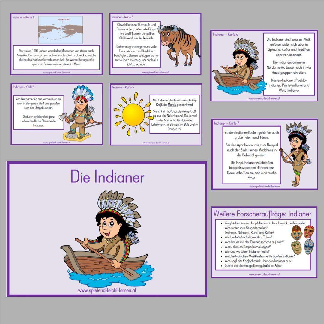 Indianer Sachkartei Indianer Unterricht Indianer Cowboy Und Indianer