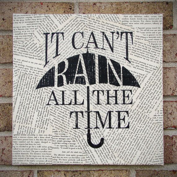 Quote on Canvas It Can't Rain All The Time The Crow by ...