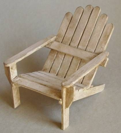 112 scale armchair | Maison en batonnet, Meubles de poupée