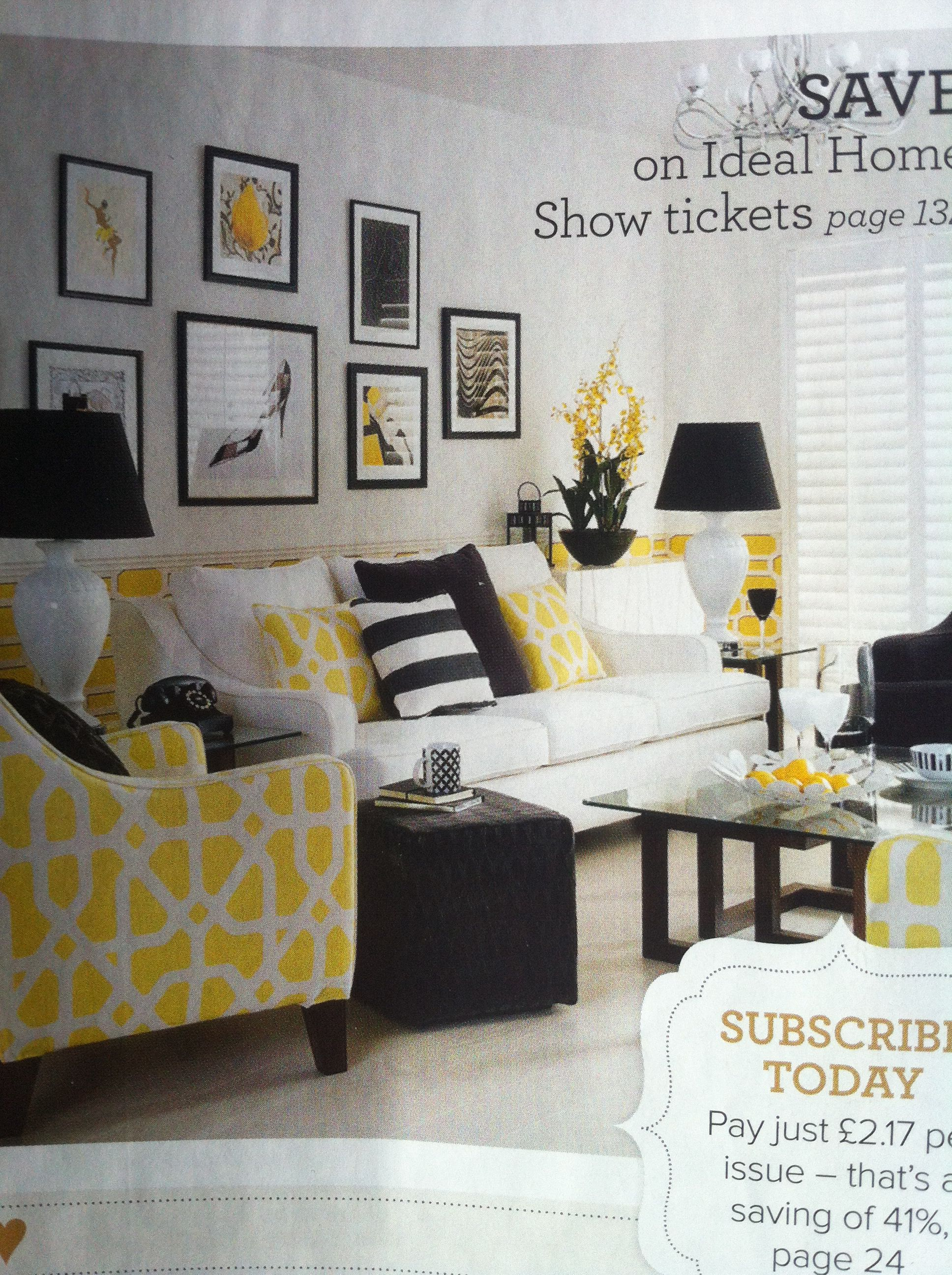 Yellow And Grey Room Designs: Grey And Yellow Living Room, Yellow