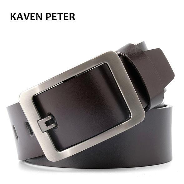 Top Quality Fashion Mens Belt 100/% Genuine Leather Belt Belts for Men Size S-9XL