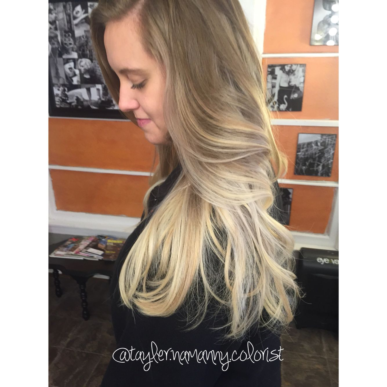 Uncategorized tri color hair highlights pictures can ihighlight gray hair grey hair gets hotter things that make you - Long Hair Balayage Ombre Blonde By Tayler Namanny