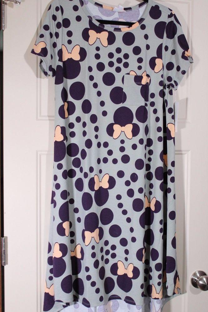 d3ea8e1c9fbe4 NWT LuLaRoe Carly Dress - Large - Disney Collection - Minnie Mouse -  Gray/Purple #LuLaRoe #Carly