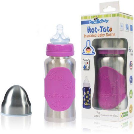 Pacific Baby Hot Tot Insulated Steel Baby Bottle 7 Oz Walmart Com In 2020 Baby Bottles Baby Feeding Bottle Feeding