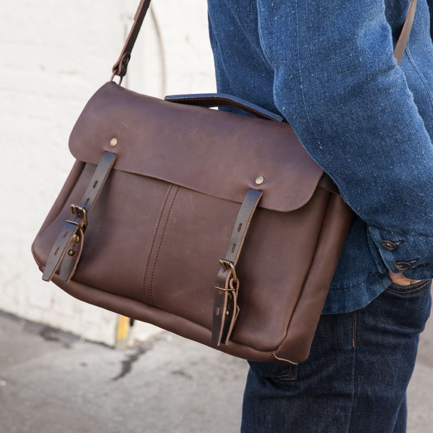 c2aaf933ce Bleu de Chauffe | Men | Leather messenger bag | Justin Plumber Bag | Sac  cuir homme Made in France